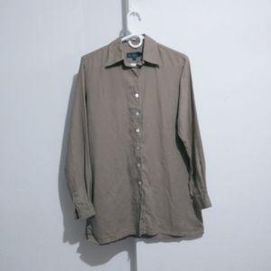 Boden linen buttondown shirt women Size 10 #I7#